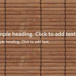 Bamboo blind01-PowerPointテンプレート