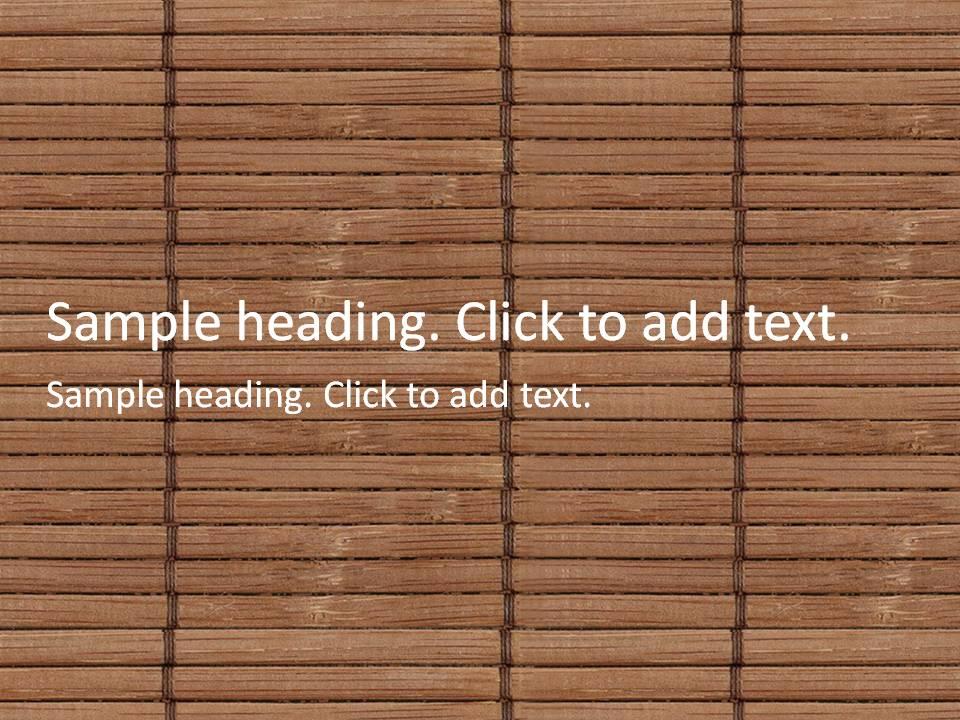 Bamboo blind01-PowerPointテンプレートのアイキャッチ画像