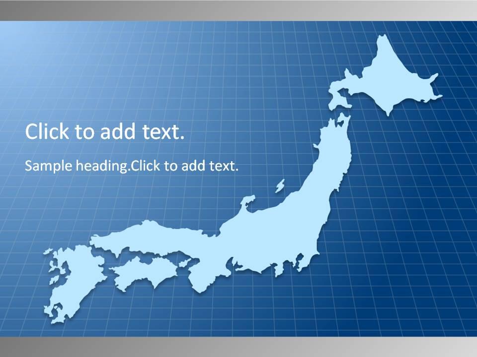 Map of Japan01-PowerPointテンプレートのアイキャッチ画像