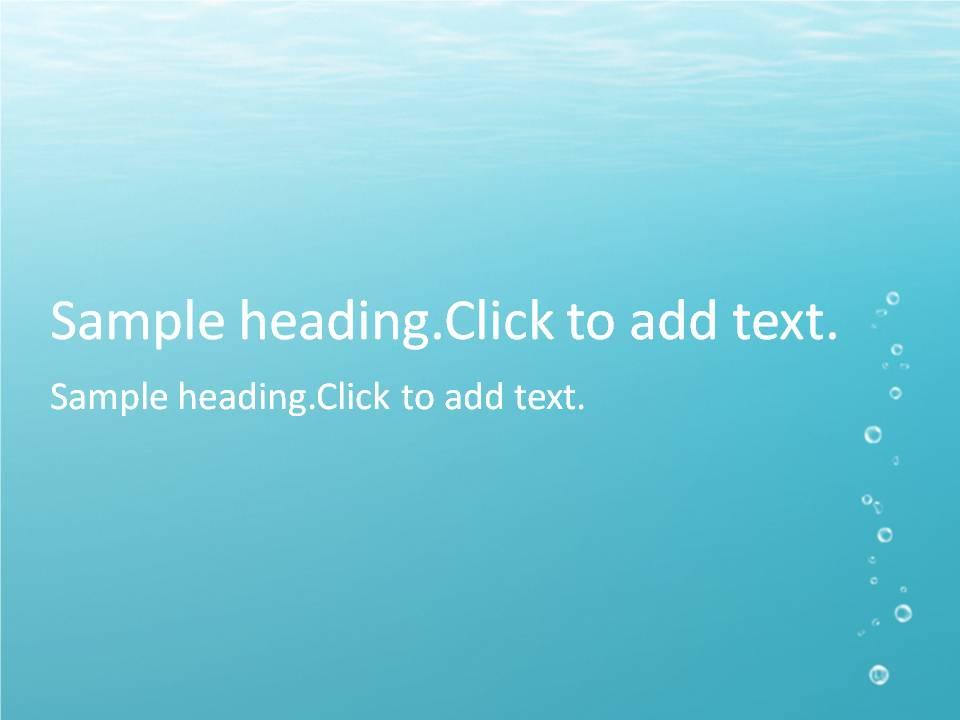 Underwater01-PowerPointテンプレートのアイキャッチ画像