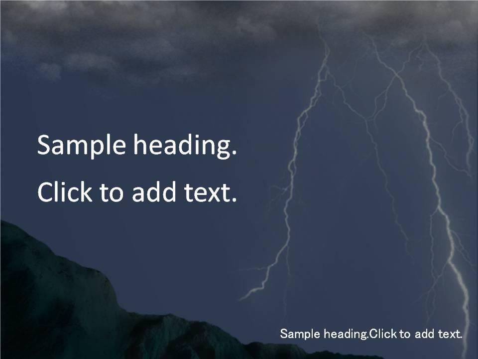 Disaster01-PowerPointテンプレートのアイキャッチ画像