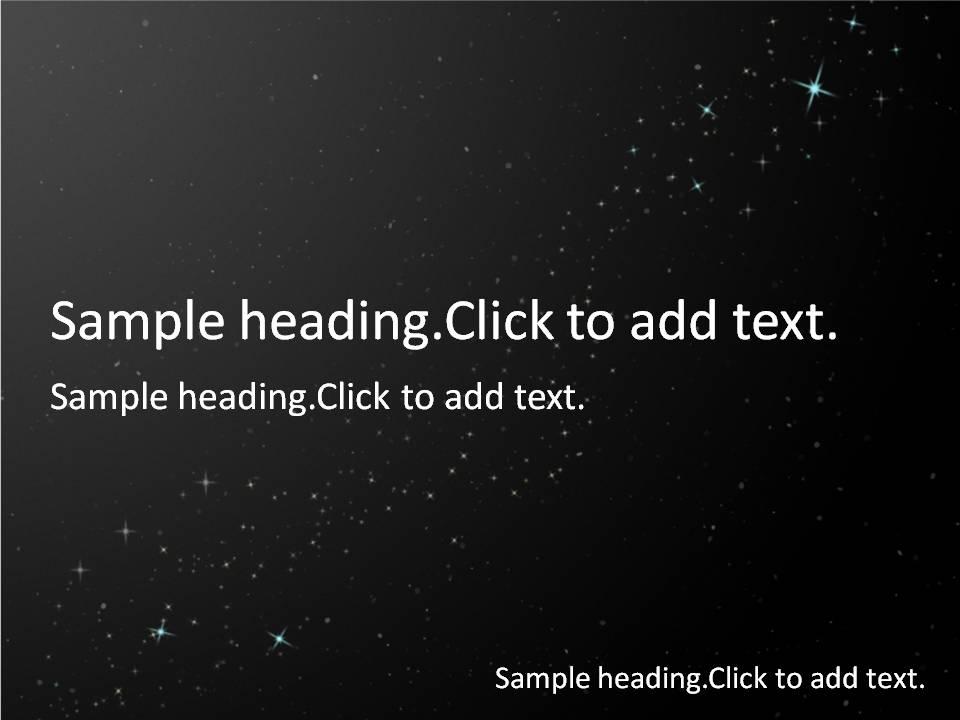 Starry sky01-PowerPointテンプレートのアイキャッチ画像